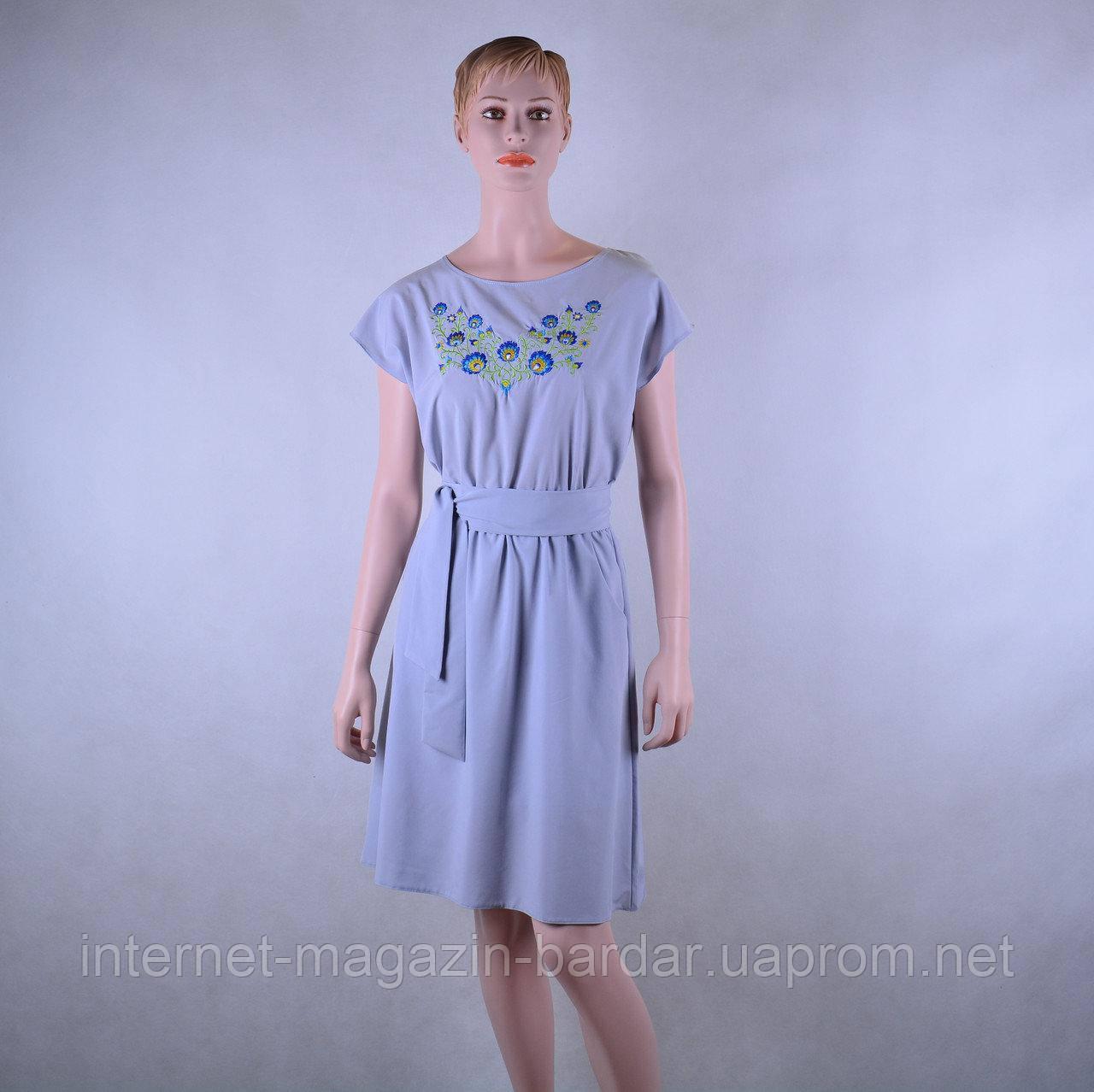 """Жіноча вишита сукня """"Словянка"""" (коротка)"""