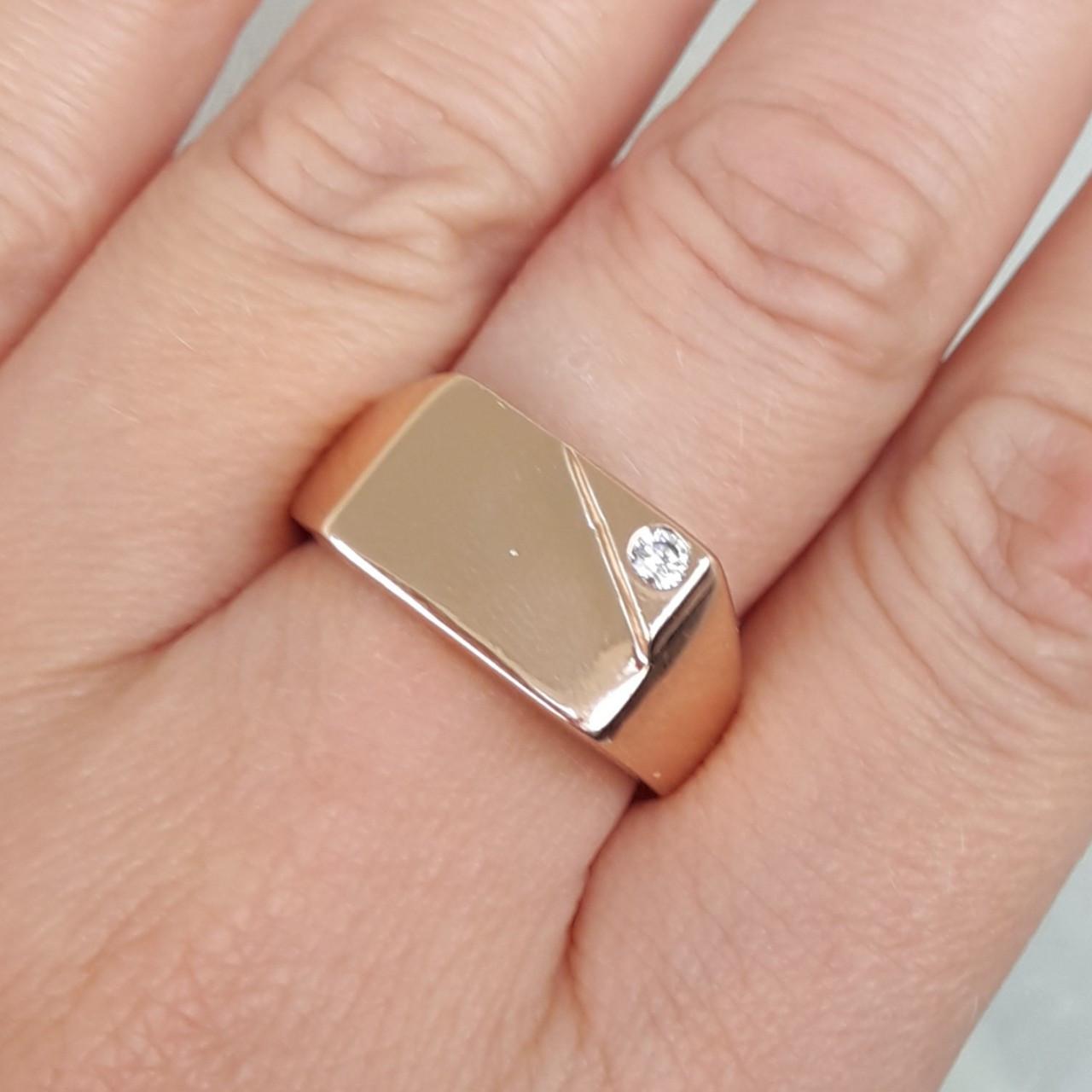 Кольцо xuping 20р печатка мужская 1см м268