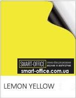 Магнитный винил с желтым грифельно-маркерным покрытием шириной 1,2м.