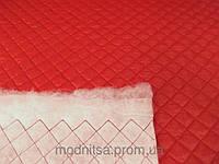 Плащевка Лайт Мэмори стеганная 100 (красный) (арт. 02137) 2,5 х 2,5 (Отрезы 2,3 + 1,12 + 1,0 м)