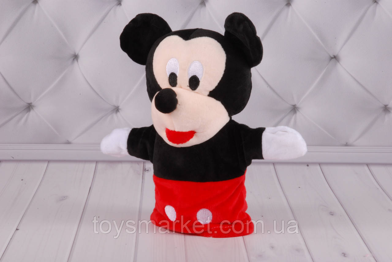 Игрушка рукавичка для кукольного театра, Микки Маус, Минни Маус, Mickey, Minni Mouse, кукла перчатка на руку