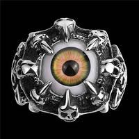 Кольцо нержавеющая сталь Око карий
