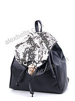 Рюкзак женский с пайетками  (черный)