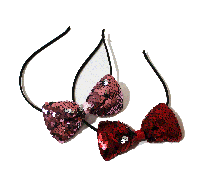 Обруч в пайетках (красный и розовый), фото 1