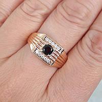Перстень xuping 20,21,22р высота 1см печатка мужская м415, фото 1