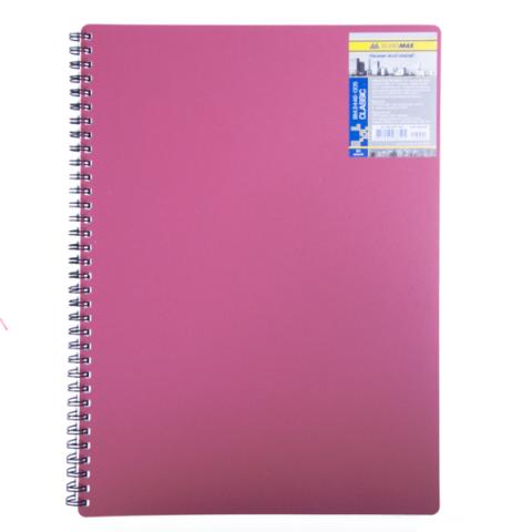 Зошит на пружині Buromax Classic A4 80 аркушів клітинка червона