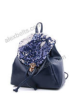 Рюкзак женский с двухсторонними пайетками  (синий)