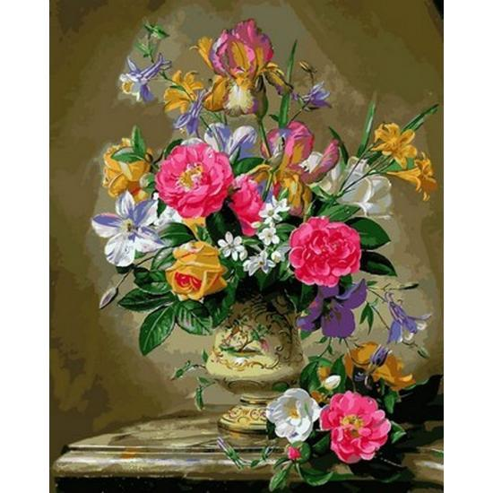Картина по номерам Q2168 Розы цвета фламинго, 40x50 см., Mariposa