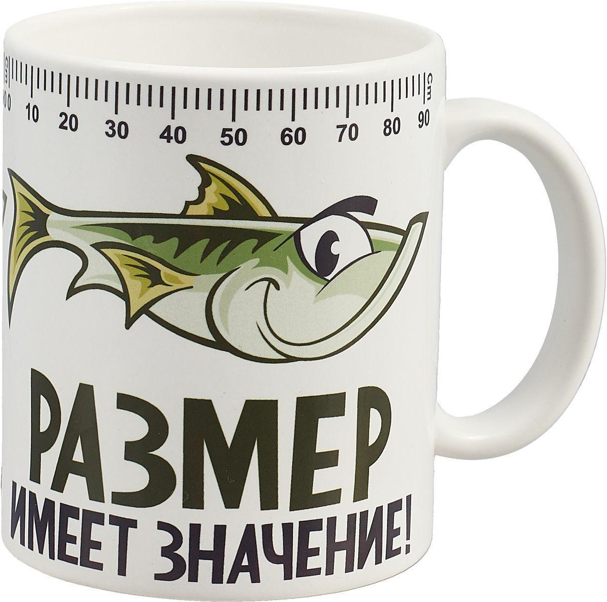 """Чашка с принтом """"Размер имеет значение"""""""
