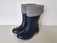 Резиновые сапоги детские с утеплителем (синие)