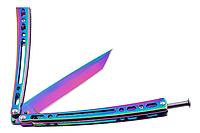 Балисонг фигурный хамелеон нож бабочка, тренировочное оружие для трюков (флипперов), филиппинский нож