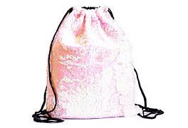 Сумка для обуви  с двухсторонними паетками(розовый), 34*43см (10шт)