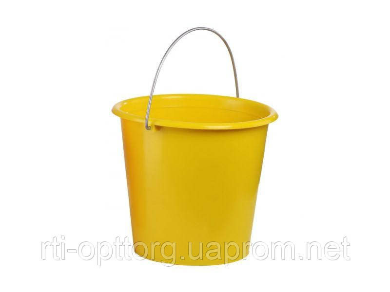 Ведро пластмассовое садово-огородное 10 л (цветное)