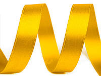 Лента атласная желтая 25мм