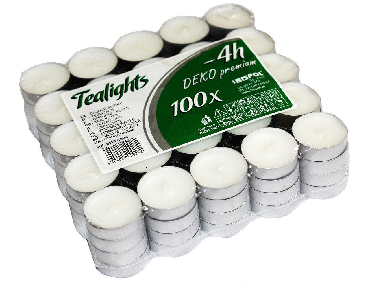 Чайные свечи. 100 шт.
