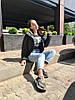 """Короткая стеганая женская куртка на синтепоне """"MILITARY"""" с карманами, фото 5"""