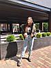 """Короткая стеганая женская куртка на синтепоне """"MILITARY"""" с карманами, фото 4"""