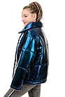 Демисезонная куртка Марго металлик-темно-синий, фото 3