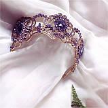 Purple Rose - Висока діадема з фіолетовим камінням в стилі Роксолани, фото 3