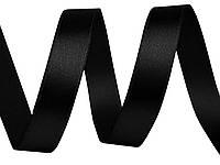 Лента атласная черная 12 мм