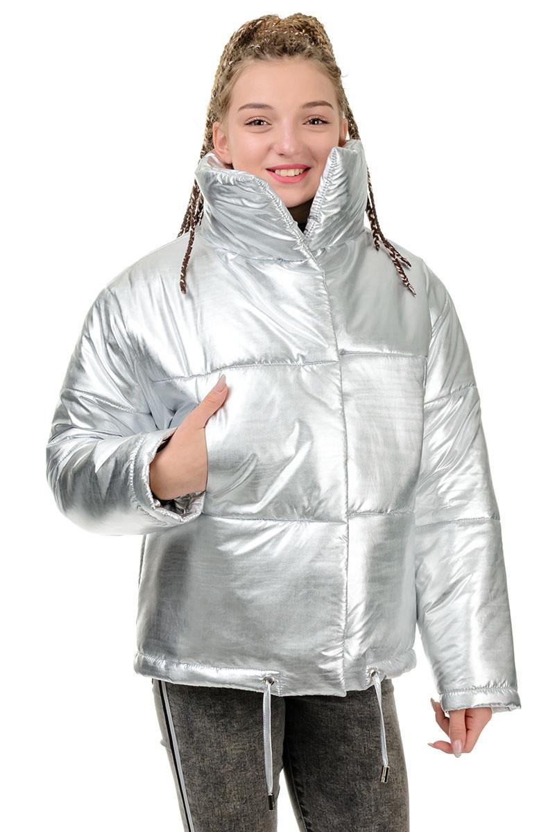 Куртка Марго металлик-серебро