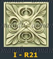 Деревянная Резная Розетка  I - R21
