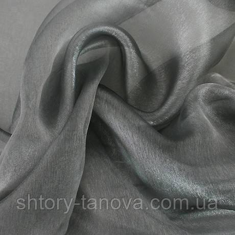 Органза снежок серый
