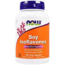 """Соевые изофлавоны NOW Foods """"Soy Isoflavones"""" поддержка эндокринной системы (120 капсул)"""