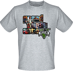 Футболка Grand Theft Auto 5 - GTA V (меланж)