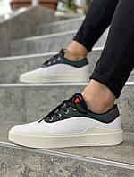 Мужские кроссовки Jordan (white/black), мужские кеды Jordan (реплика ААА)