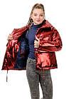 Куртка Марго металлик-марсала, фото 3