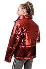 Куртка Марго металлик-марсала, фото 4