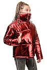Куртка Марго металлик-марсала, фото 2