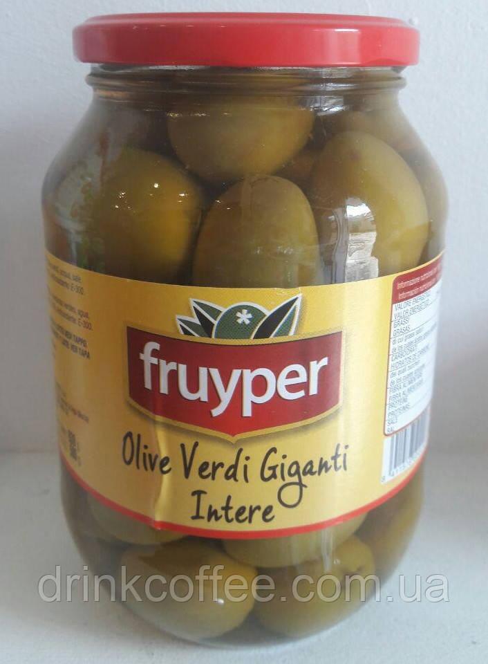 Оливки Olive Verdi Giganti Intere, Fruyper, с косточкой (гиганты), Италия, 830g
