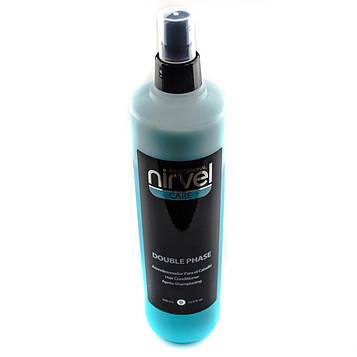 Двухфазный несмываемый спрей-кондиционер термозащита для волос Нирвел Nirvel Double fase 500 мл 6901