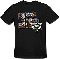 Футболка Grand Theft Auto 5 - GTA V (чёрная)