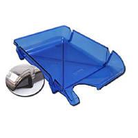 Лоток горизонтальный для бумаг «Компакт» Economix, пластик, синий