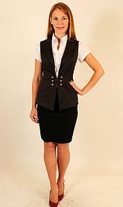 Пиджак без рукавов под блузку ( коричневый ) 42-48 р