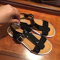 Босоножки сандалии женские молодежные черные 5194