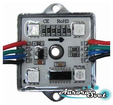 Пиксель управляемый светодиодный. RGB PIXEL WL-12V4RGB2801 1,2W