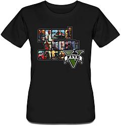 Женская футболка Grand Theft Auto 5 - GTA V (чёрная)