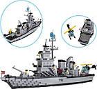 Конструктор Brick 112 «Военный корабль» 970 дет., фото 3
