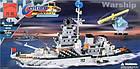 Конструктор Brick 112 «Военный корабль» 970 дет., фото 5