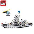 Конструктор Brick 112 «Военный корабль» 970 дет., фото 6