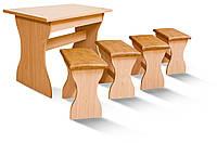 Мебельный комплект из стола и 4 стульев