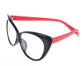 Очки Bananahall Cat Eye линзы прозрачные Черные с красным bnnhll4120, КОД: 975284