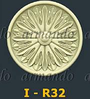 Деревянная Резная Розетка  I - R32