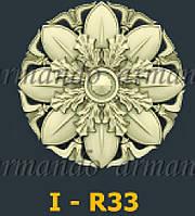Деревянная Резная Розетка  I - R33
