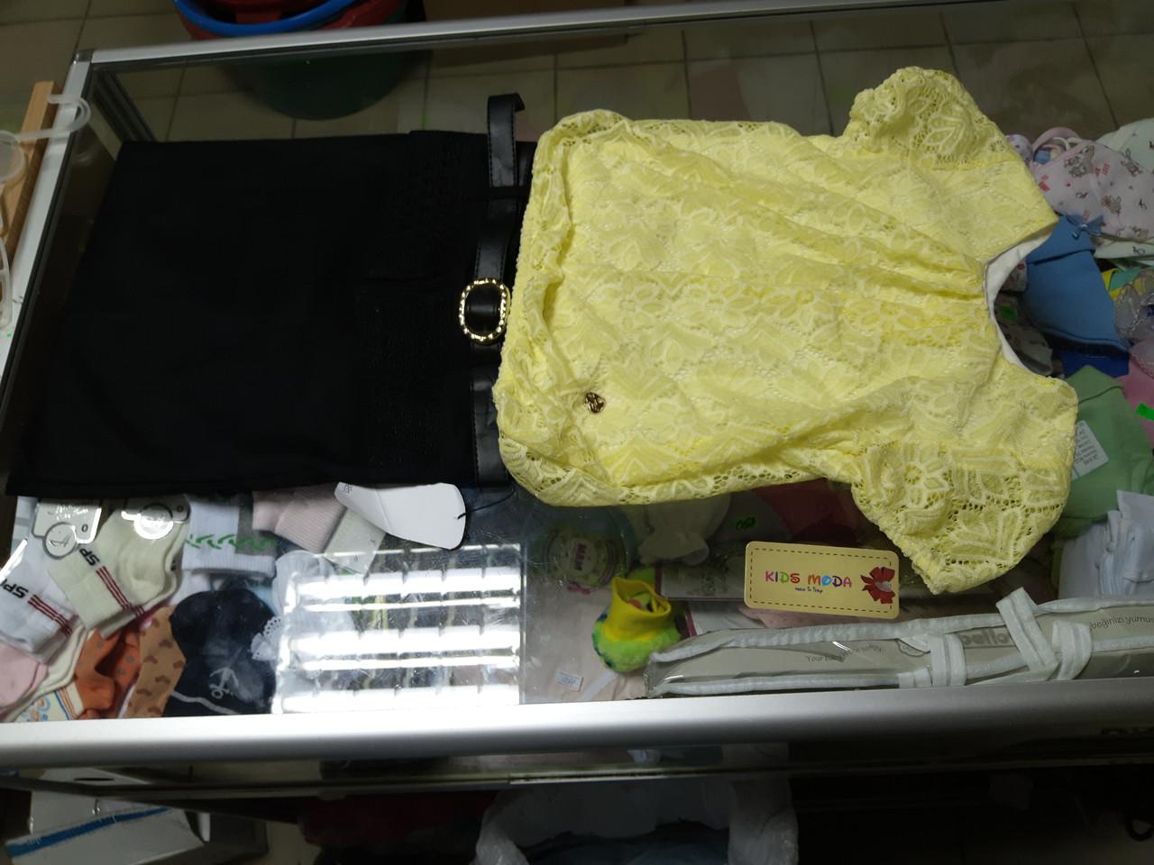 Костюм детский школьный блуза и юбка р.122 -140