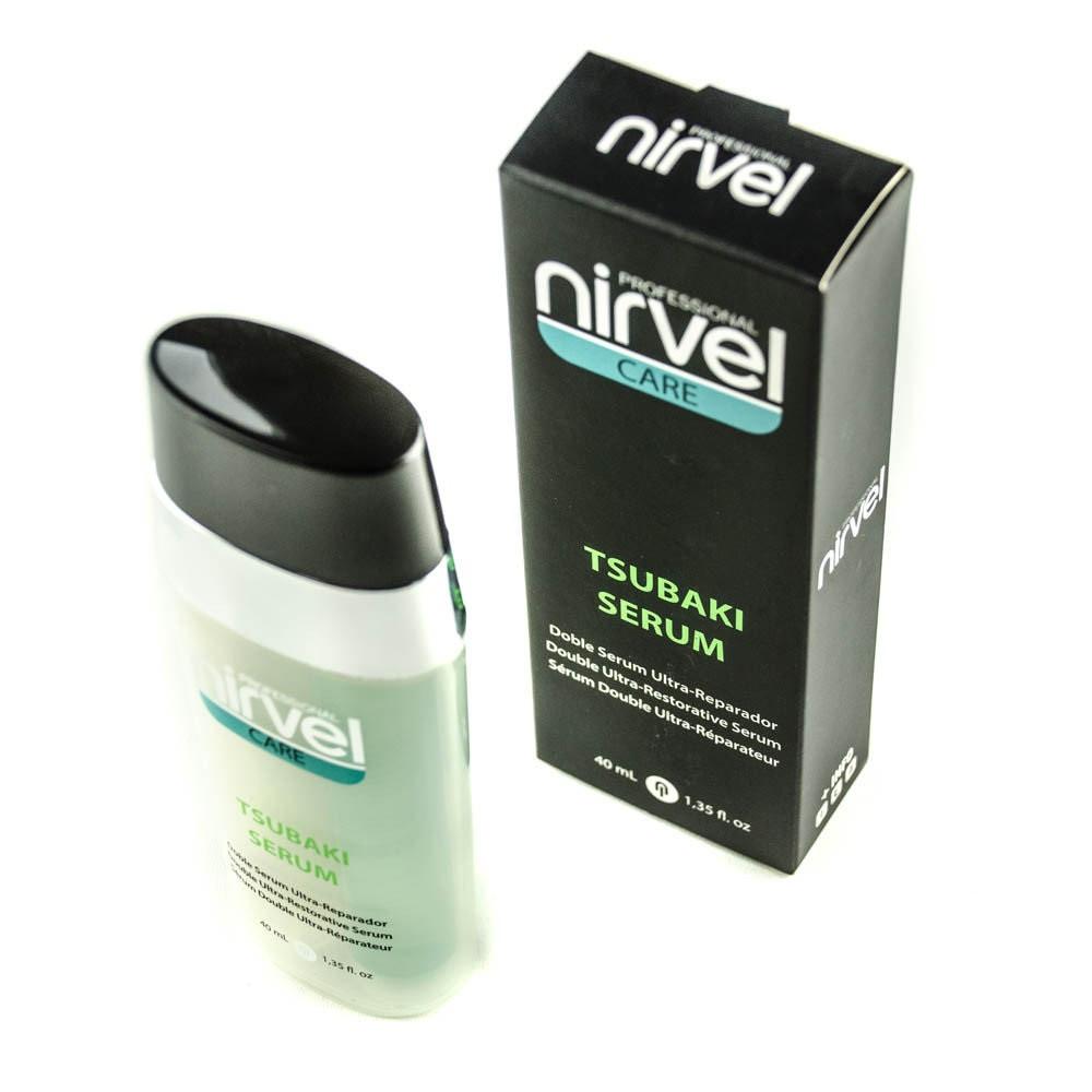 Сыворотка для сильно поврежденных волос с маслом камелии Нирвел Nirvel Tsubaki serum 40мл 6333